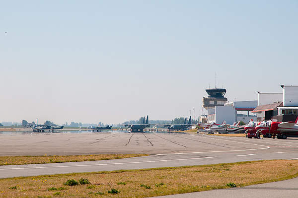 The Abbotsford International Airport is spread over 519 hectares. Image courtesy of Abbotsford Airport Authority.