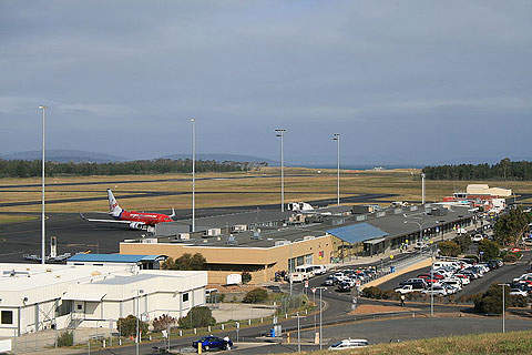Hobart's terminal and apron.
