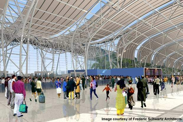 After the expansion, Chennai Airport will have 140 check-in counters, 60 immigration counters and seven security gates. Credit: Frederic Schwartz Architects.