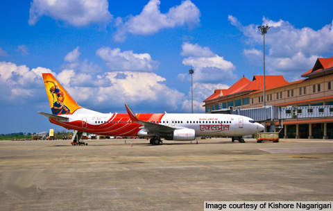 Air India Express Boeing 737-800W parked at Cochin International Airport.