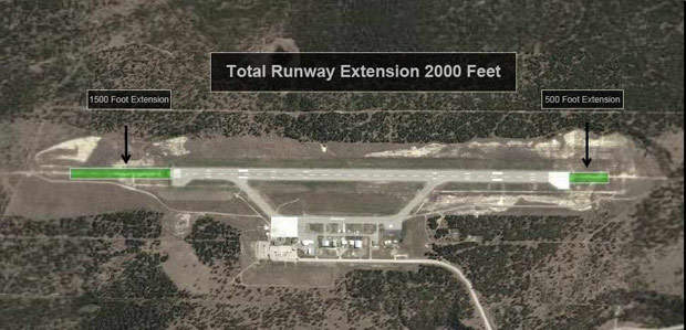 The runway extension project.