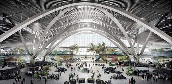 The new terminal will have 193,750ft² of passenger and duty-free retail space.