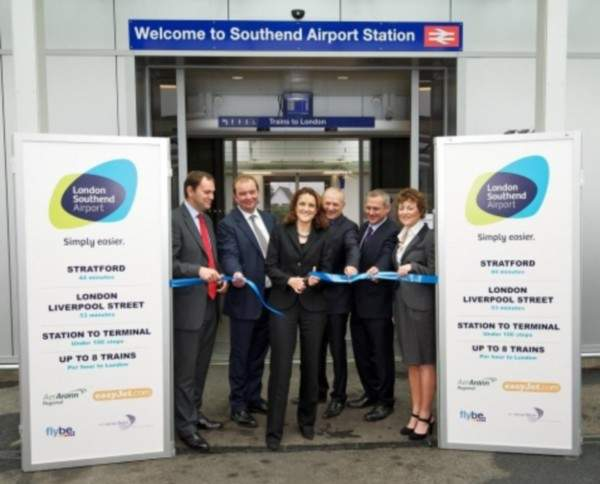 London Southend Airport railway station was officially inaugurated in September 2011. Image courtesy of the Stobart Group.