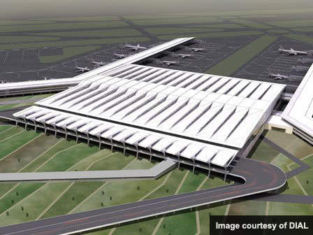 The new T3 at Indira Gandhi International Airport will have a rail link and access road.