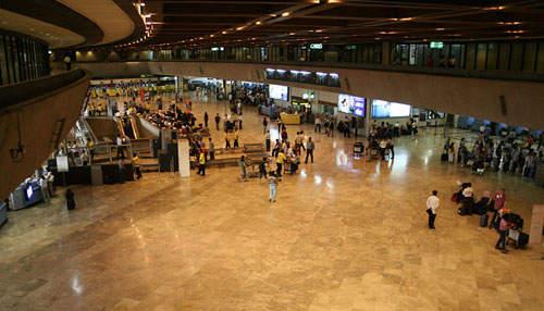 Terminal 1 departure area.
