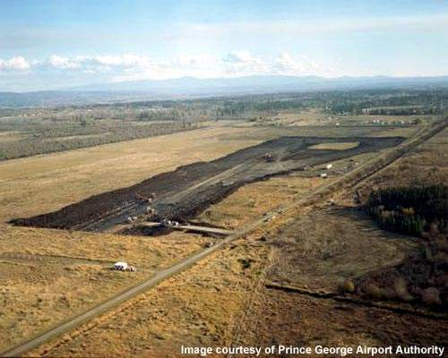 The main runway at Prince George Airport will be extended from 7,402ft to 11,400ft.