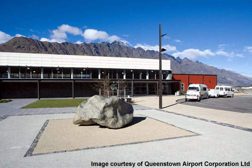 The pick-up area at Queenstown International.