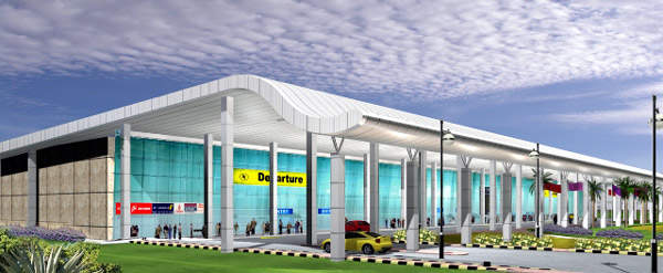 Dr Babasaheb Ambedkar International Airport terminal building now has a floor space of 17,500m2.