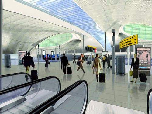 The new terminal concourses will be light, airy and very spacious. T2 will have 58 check-in desks and ample provision for self-service and online check-in and baggage drop. A new facility will allow transatlantic passengers to clear US customs and border protection before departure.