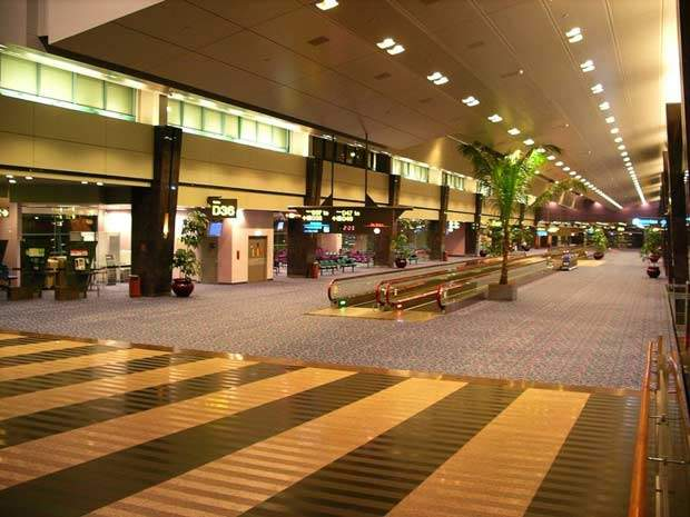 Inside terminal 2 at Changi Airport.