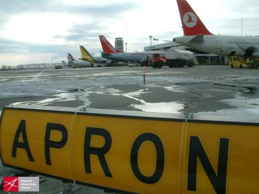 The expansion of C apron at terminal two began in January 2013. Image courtesy of www.beg.aero