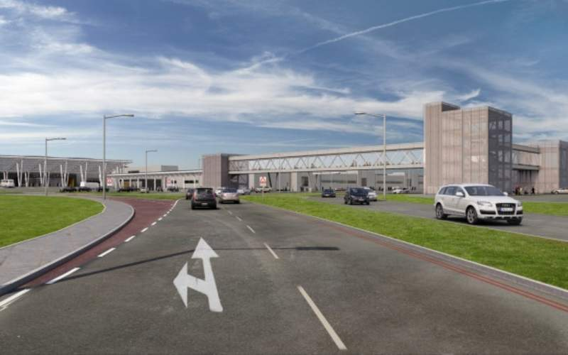 A new short-term car park is being constructed to increase the parking area at the airport. Credit: London Luton Airport.