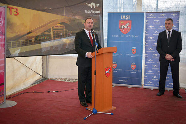Groundbreaking ceremony for the construction of the new terminal T3 was held in February 2015. Image courtesy of Iasi County Council.