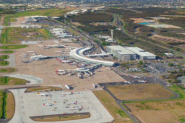 Brisbane Airport is located on 2,700ha of land.