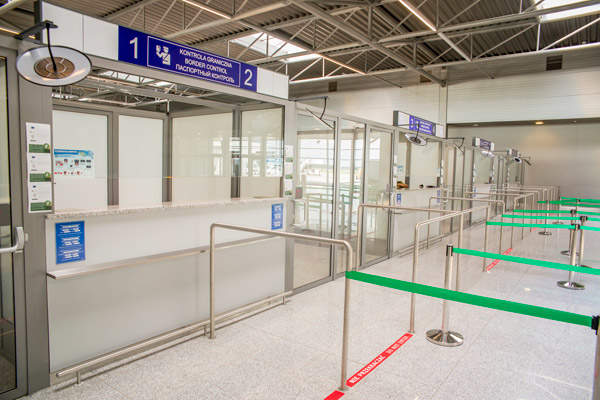 Terminal C handles all the arrivals at the airport.  Image courtesy of Skanska.