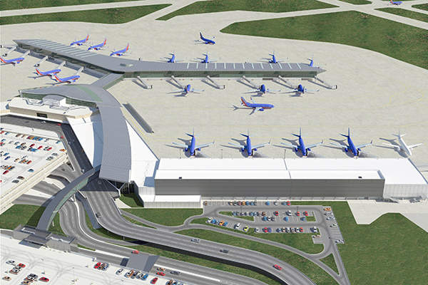 The new international terminal can handle narrow-body aircraft, including Boeing 737 and A318-320. Image courtesy of Houston Airport System.