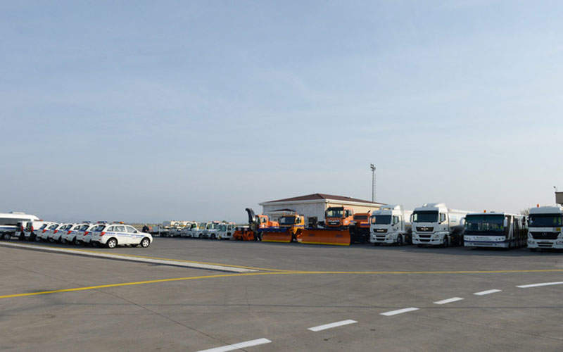 Multiple transportation facilities are available from the airport. Image courtesy of President of the Republic of Azerbaijan.