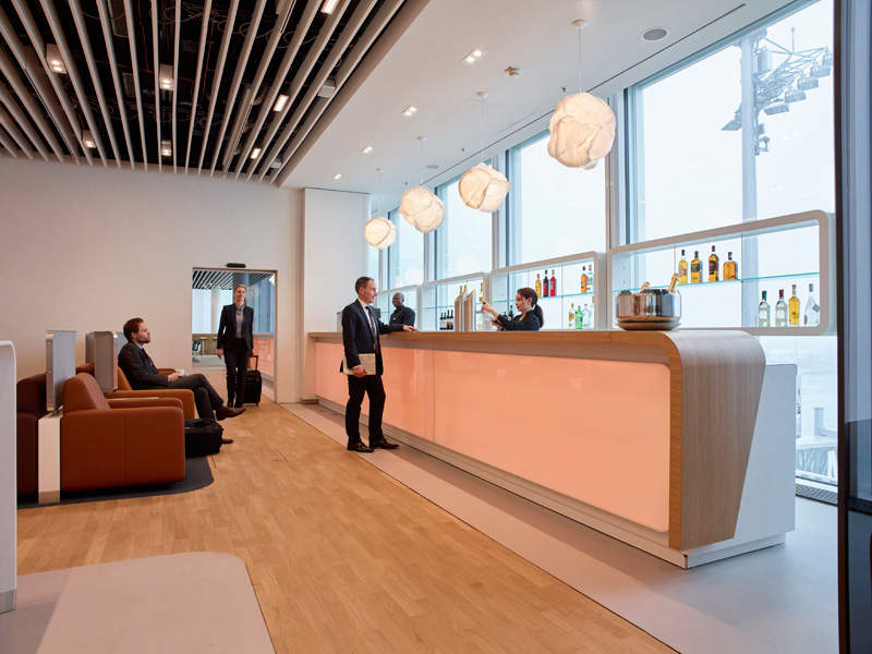 The Lufthansa Group offers five new lounges for the waiting passengers in the satellite terminal. Image courtesy of The Lufthansa Group.