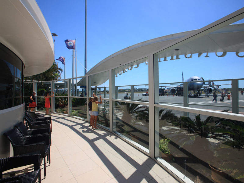 The viewing deck at the Sunshine Coast airport. Image courtesy of Sunshine Coast Regional Council.