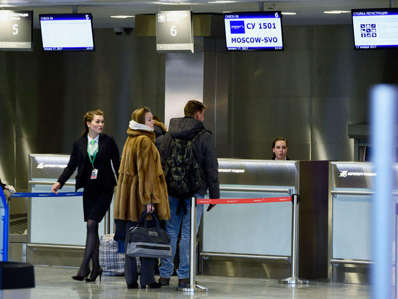 The number of check-in desks was increased during the redevelopment project. Image courtesy of Government of the Tyumen Region.