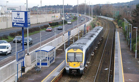 Although rail services to Belfast City Airport are improved and a request shuttle is available, air-rail interchange would benefit from a halt nearer the present terminal.