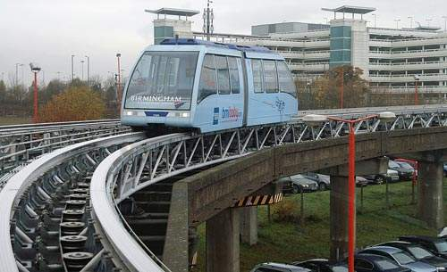 Birmingham's air-rail link carries passengers between the airport, the railway station and NEC.