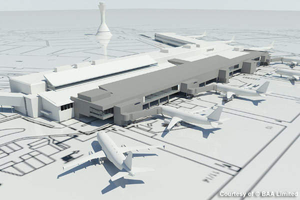 The planned extension to Edinburgh Airport.