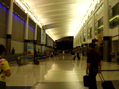 George Bush Intercontinental concourse D following its renovation and upgrade.