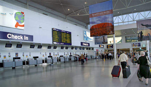 The Newcastle Airport terminal area was doubled by extensions opened in 2004.