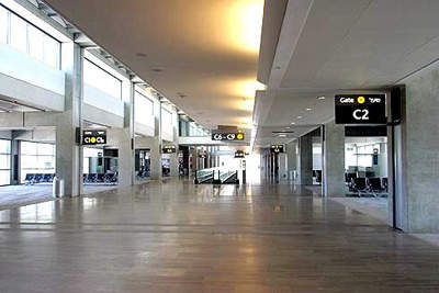 Concourse C in of terminal three at Ben Gurion Airport.