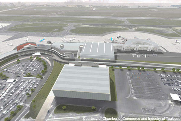 Toulouse-Blagnac Airport is the fourth largest in France and is a major hub for the South of France.