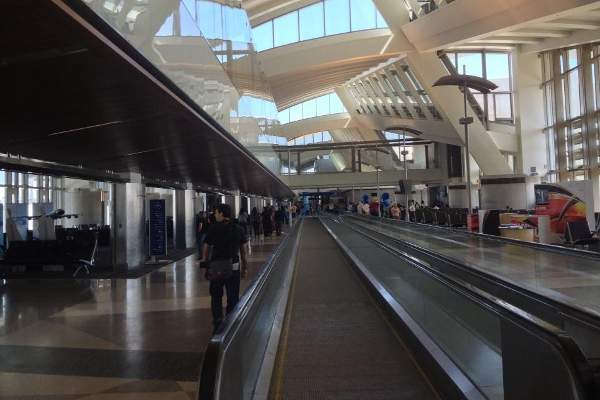 New moving sidewalks were installed during phase one of the TBIT improvement project.