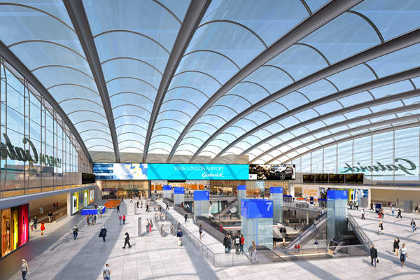 Gatwick train station will be upgraded with an investment of £120m by 2020. Image courtesy of Gatwick Airport Limited.