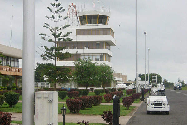 Air traffic control tower at the Kilimanjaro international Airport. Image courtesy of Alexander Johmann.