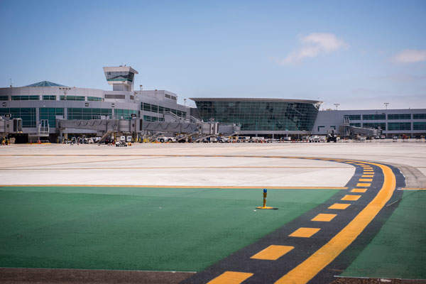 The Green Build expansion project added an area of 460,000 square feet at the terminal 2 of San Diego international airport. Image courtesy of San Diego County Regional Airport Authority.