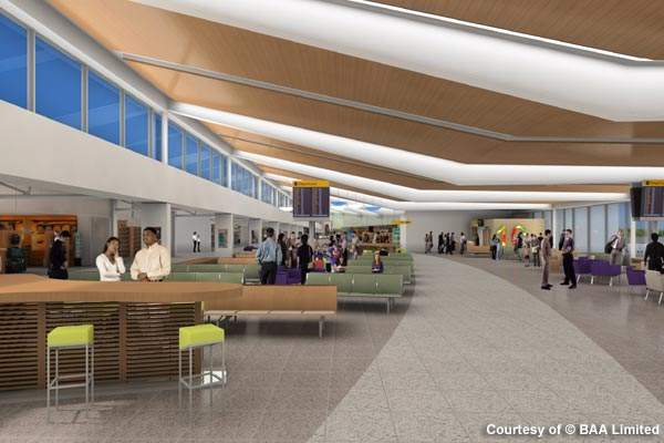 The first phase of Edinburgh Airport's expansion project involves the construction of a new departure lounge.