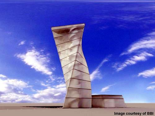 Berlin-Brandenburg's InfoTower with its innovative architecture.