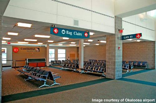 One of the continental express gates at Okaloosa Airport.