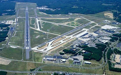 Aerial view of Richmond International Airport.