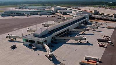 Part of Southwest Florida's new midifeld terminal complex.
