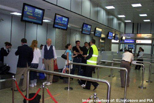 The upgraded equipment and fittings gives Priština International's terminal a look like any other small airport in Europe.