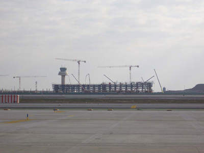 Construction site of the new terminal.