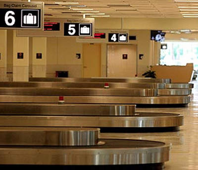 The baggage handling system in the new midfield terminal has already been upgraded.