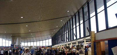 Boston Logan's new terminal was the first airport in the US to receive LEED certification for achieving environmentally significant standards.