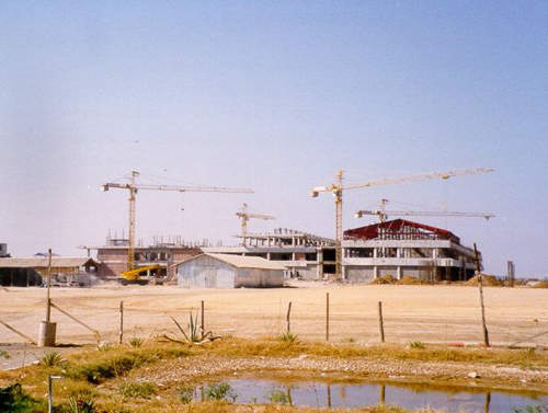 Mandalay International Airport under construction.