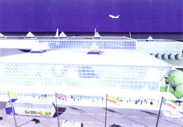An artist's impression of the new Bole International Airport terminal buildings.