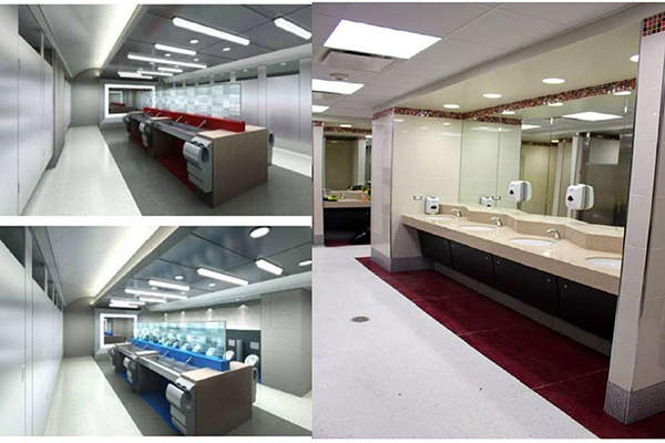 The terminal will feature modern and spacious restrooms. Image: courtesy of Houston Airport System.