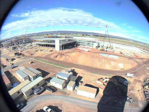 Construction of the new domestic and international terminal at Adelaide International Airport.