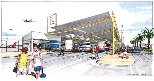 The airport bus service transit may get a new terminal.