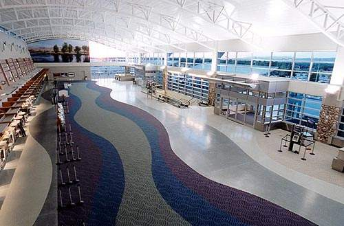 Boise Airport's new east ticket lobby.
